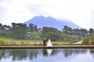 吉野公園と桜島