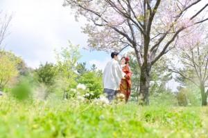 春の石橋記念公園にて